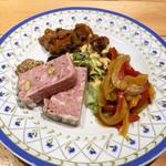 ルイブ - おまかせ前菜の盛り合わせ3品(1,500円)