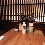 博多 なぎの木 - テーブル上はこんな感じ