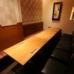 銀座和食 紬 - 広々とした半個室は13名様までご利用頂けます
