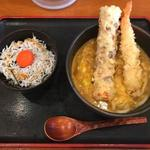 富貴堂 - スペシャルカレーうどん しらす明太子丼