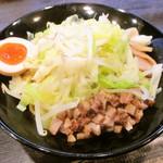 松壱家 - 野菜たっぷり油そば 大盛 辛口