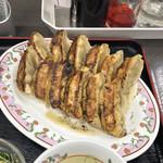 餃子の王将 - 餃子セットの餃子は2皿分12個