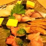 かっぱ寿司 - たい、玉子、穴子、しめ鯖、ねぎまぐろ