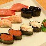 かっぱ寿司 - 中トロ、たらばがに、明太子、甘エビ、岩のり