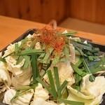 炭火焼肉 えんや - 料理写真:とんちゃん 二人前 鉄板でいただきます!(^^)!