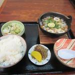 けんど茶屋 - 料理写真:注文した蕎麦米雑炊定食1000円の出来上がりです。