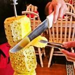 """シュラスコ&ビアレストラン ALEGRIA - 【アバカシ】(焼きパイン)シュラスコの大人気アイテム~お好みで""""シナモン""""のトッピングも相性が抜群"""