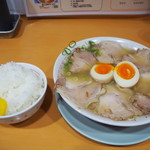 天天有 - 煮卵チャーシューメン & ライス 小