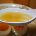 天天有 - 煮卵チャーシューメン(スープ)