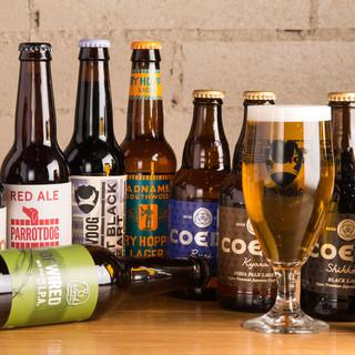 豊富なクラフトビールは樽生でも◎カジュッタのカクテルも一押し