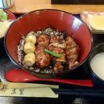 鳥繁 - 料理写真:鳥繁 浦安店 焼鳥丼(大)税込900円 ご飯少な目でお願い