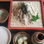 和銅 - 十割ざるそば(840円)くるみ汁(320円)