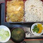 そば処 玉屋 - 料理写真:もりそばかつ丼セット