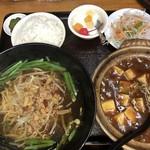 中華料理 八方客 - 麻婆豆腐定食 980円