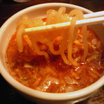 中華そば活力屋 - ぴり辛つけめんの麺