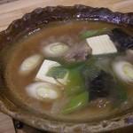 魚菜料理 二代目 みつい - 合鴨ロースと下仁田ねぎくず鍋