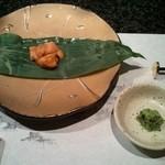 11090698 - バフンウニの笹包み焼き
