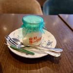 オランダ坂珈琲邸 - ハムたまごドッグ&サラダヨーグルトモーニングセット+518円