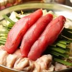半熟明太ねぎもつ鍋(塩or醤油)