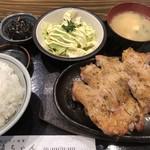 直ちゃん - 鶏もも焼き定食大盛1250円