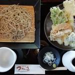蕎麦小屋 つねっさ - 天せいろ蕎麦(¥1,350(税込))