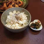 ジャム cafe 可鈴 - 【週替わりランチ(1,050円)】ごはん&お漬物