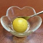 ジャム cafe 可鈴 - サービスでいただいた梅のデザート