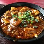 大明担担麺 - 料理写真:日替わりランチ(760円)の麻婆豆腐
