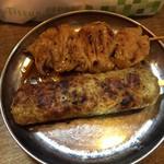 もつ焼き 幸太 - 大葉つくねとシロ・・シロはこれまで食べた中で一番!