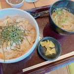 多賀麺宿  - 料理写真:カツ丼うどんセット
