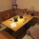 Satou - 私達が食べた席です。