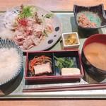 新潟 食楽園 - 佐渡産島黒豚のしゃぶしゃぶ定食