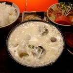 炎の池 - コールローラーデン(840円)にライス漬物付(160円)とミニサラダ(210円)
