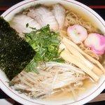 トトロ - 支那そば 節系出汁の効いたさっぱりスープ 札幌西山製麺 わけぎ又はあさつき使用