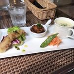 里山カフェ chiki - ランチセットの前菜(^^)