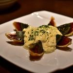中国家庭料理 北斗 - フライドピータンの中華タルタルソース@850円