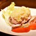 中国家庭料理 北斗 - 蒸し鶏の葱油風味@800円