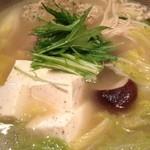 11096567 - 宮崎地鶏のつくね塩鍋