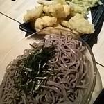 110961672 - 穴子と山菜の天麩羅、田舎そば