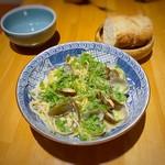 三宅料理店 - 旬のあさりのオイルスパゲティ(ランチ)
