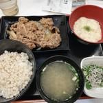 吉野家 - 牛皿とろろ御膳¥630