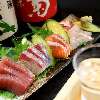 市場直送の新鮮な鮮魚をお届け!刺盛り1,180円~