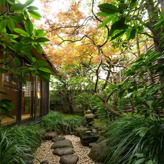 庭も臨める落ち着いた雰囲気