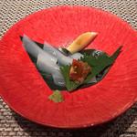 蕾 - 泥障烏賊の薄造りにもろみ味噌