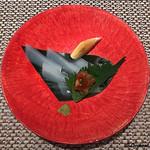 蕾 - 泥障烏賊の造りにもろみ味噌
