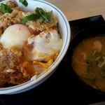 かつや - 特カツ丼+とん汁小up