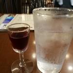 レストランカミヤ - 葡萄酒 直径2cmくらいのミニグラスです