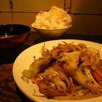 シロクマ - 肉野菜炒め定食 (1,150円)