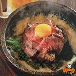 ゴハンBar HEROS - 一番人気!石焼きローストビーフ丼
