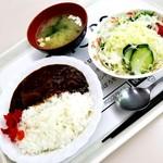 札幌市役所本庁舎食堂 - ミニカレー&ビタミンサラダ 490円
